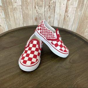 Vans Toddler Mix Checker Slip-On Size 5